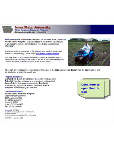 Weed Science Program 2002 Weed Control Results