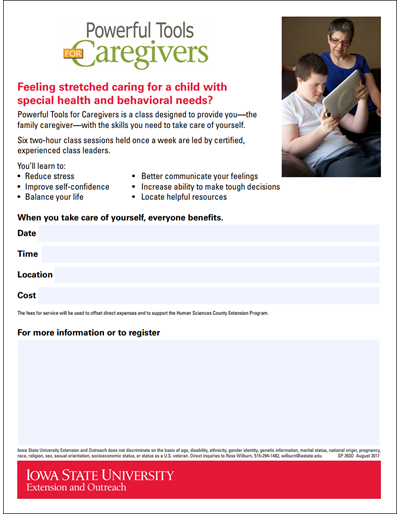 Powerful Tools for Caregivers - child with special health and behavioral needs