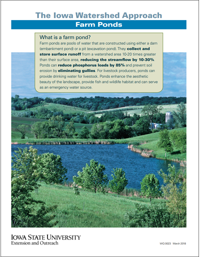 The Iowa Watershed Approach - Farm Ponds