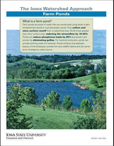 The Iowa Watershed Approach - Farm Ponds