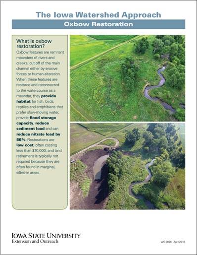 The Iowa Watershed Approach - Oxbow Restoration