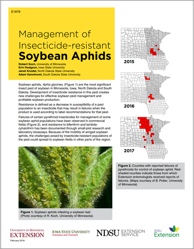 Management of Insecticide-resistant Soybean Aphids