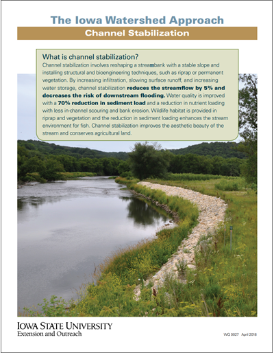 The Iowa Watershed Approach - Channel Stabilization