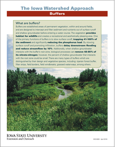 The Iowa Watershed Approach - Buffers