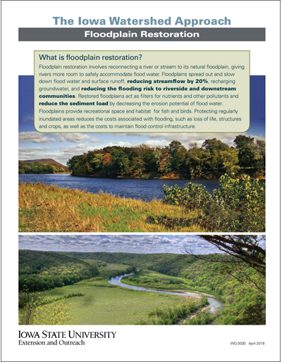 The Iowa Watershed Approach - Floodplain Restoration