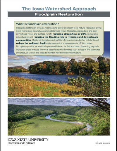 The Iowa Watershed Approach - Floodplain Restoration