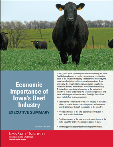 Economic Importance of Iowa's Beef Industry -- Executive Summary