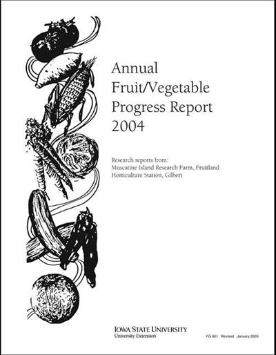 Annual Fruit/Vegetable Progress Report 2004