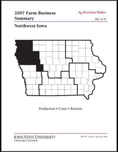 2007 Farm Business Summary -- Northwest Iowa