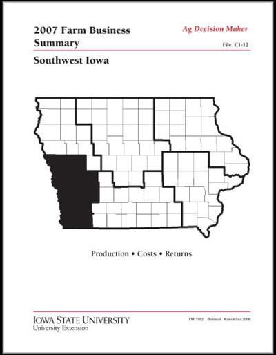 2007 Farm Business Summary -- Southwest Iowa