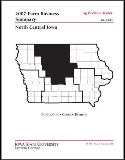 2007 Farm Business Summary -- North Central Iowa