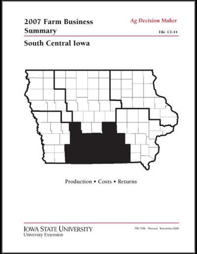 2007 Farm Business Summary -- South Central Iowa
