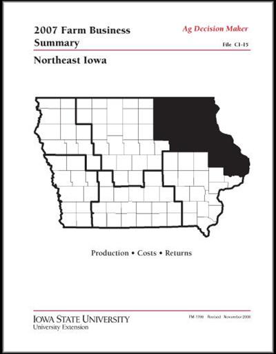 2007 Farm Business Summary -- Northeast Iowa