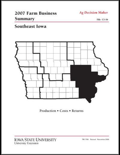 2007 Farm Business Summary -- Southeast Iowa