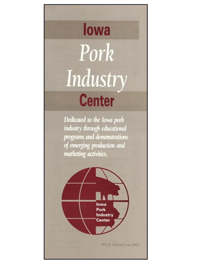 Iowa Pork Industry Center brochure
