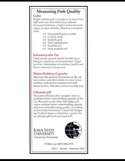 Measuring Pork Quality -- Iowa Pork Industry Center