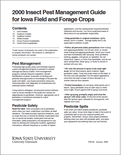 2000 Insect Pest Management Guide for Iowa Field and Forage Crops