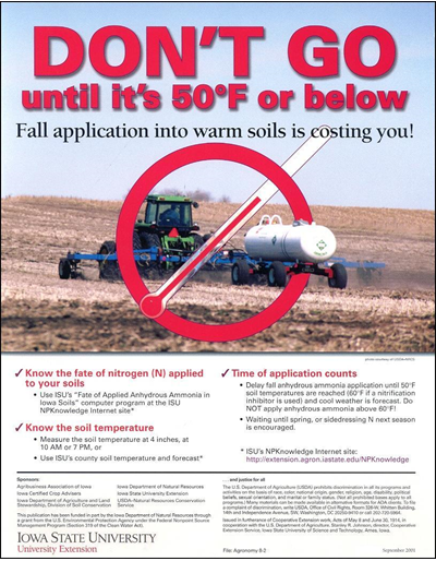 Don't Go Until It's 50 Degrees F or Below -- Fall Application Into Warm Soils is Costing You!