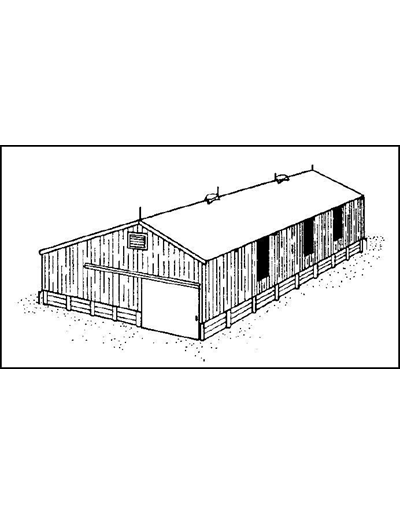 42 inch Wide Pole Utility Building