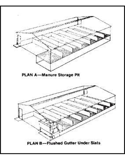 Modified Open Front Swine Finishing Building