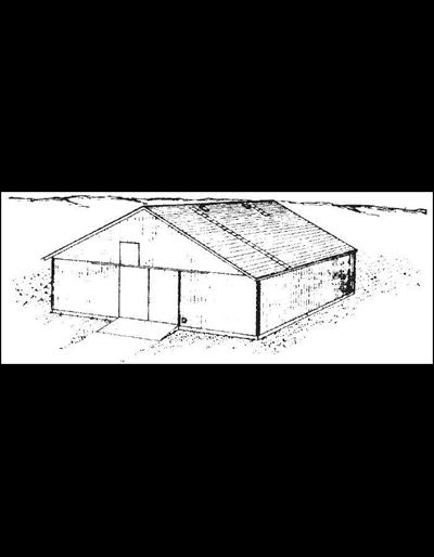 48' Pole Grain Storage