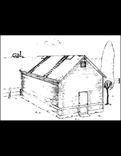 4' Alley -- Double Corn Crib