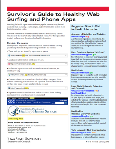 Survivor's Guide to Healthy Web Surfing and Phone Apps