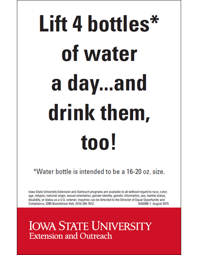 Lift 4 Bottles* of Water a Day...and Drink Them, Too!