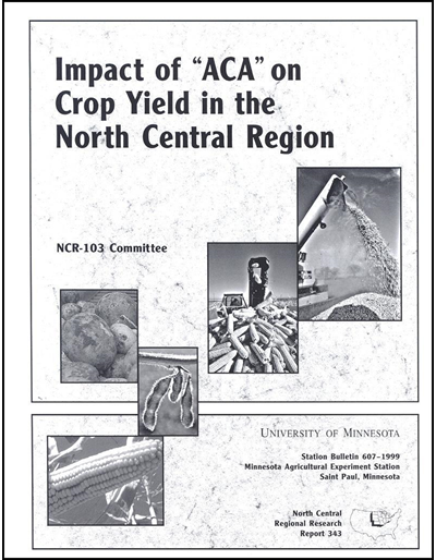 Impact of ACA on Crop Yield in the North Central Region