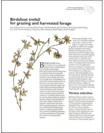 Birdsfoot Trefoil for Grazing and Harvested Forage