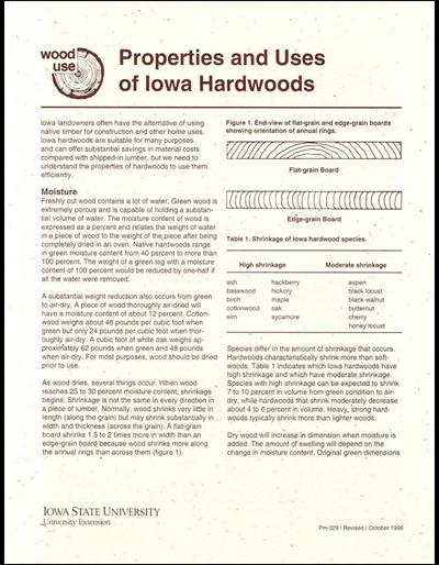 Properties and Uses of Iowa Hardwoods