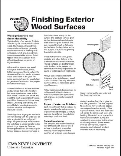Finishing Exterior Wood Surfaces - Wood Use