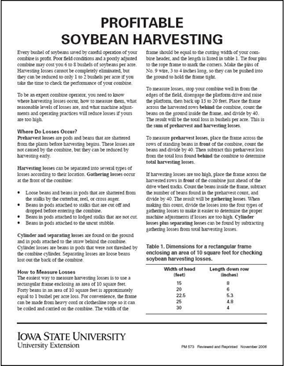 Profitable Soybean Harvesting