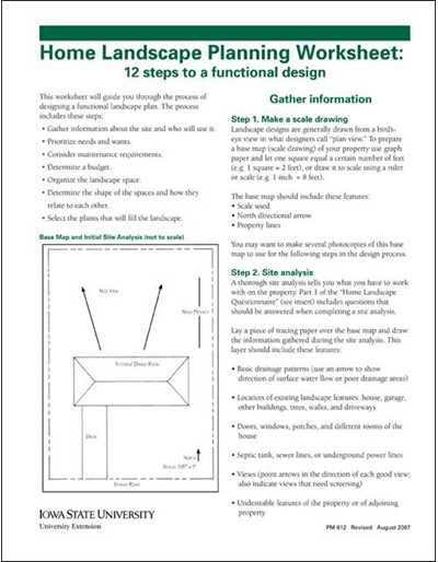 Home Landscape Planning Worksheet: 12 Steps to a Functional Design