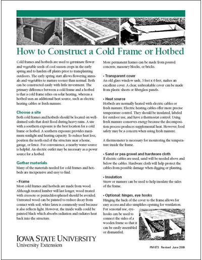 How to Construct a Cold Frame or Hotbed