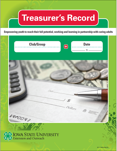 Iowa 4-H Treasurer's Record