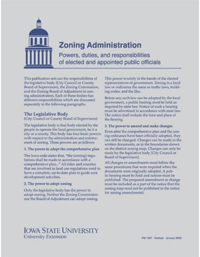 Zoning Administration - Powers, Duties and Responsibilities of Elected and Appointed Public Officials