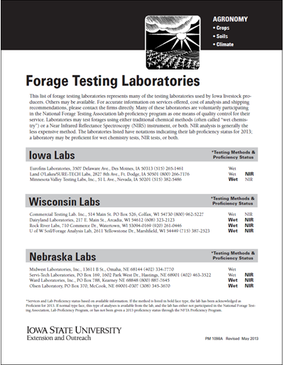 Forage Testing Laboratories