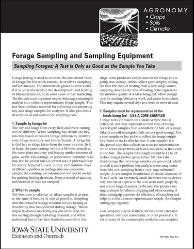 Forage Sampling and Sampling Equipment