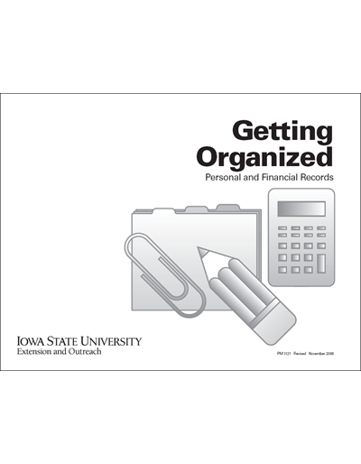 Getting Organized -- Personal and Financial Records