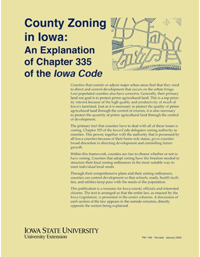 An Explanation of Chapter 335 of the Iowa Code - County Zoning in Iowa