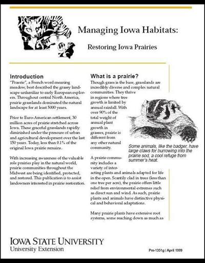 Restoring Iowa Prairies - Managing Iowa Habitats