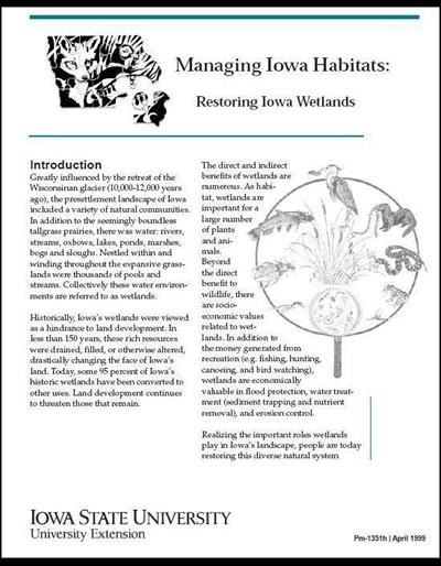 Restoring Iowa Wetlands - Managing Iowa Habitats
