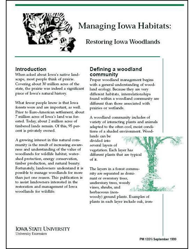 Restoring Iowa Woodlands - Managing Iowa Habitats