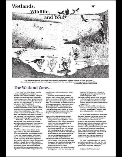 Wetlands, Wildlife and You