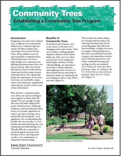 Establishing a Community Tree Program - Community Trees