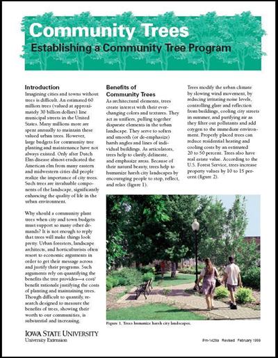 Establishing a Community Tree Program - Community Trees