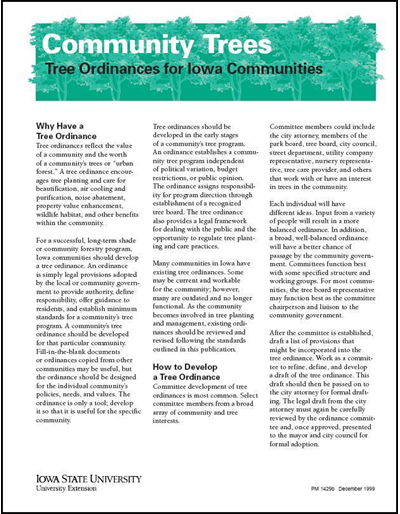 Tree Ordinances for Iowa Communities - Community Trees