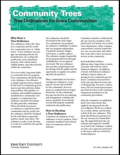 Tree Ordinances for Iowa Communities - Community Trees