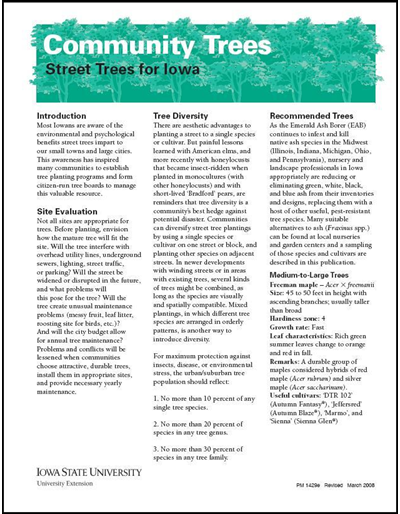 Street Trees for Iowa -- Community Trees
